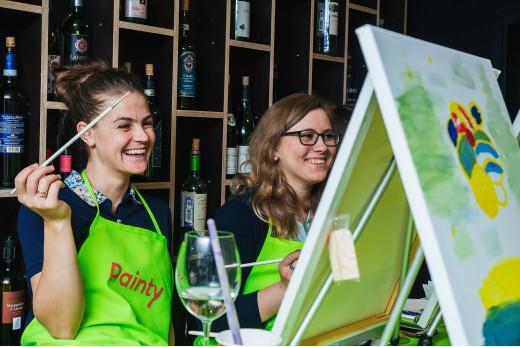 Painty Party - Рисуем картину в баре за бокалом вина