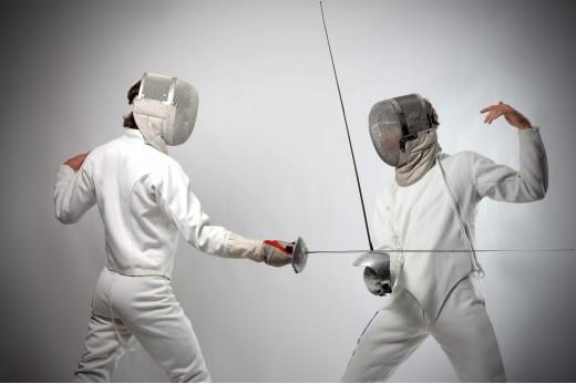 Урок фехтования для взрослого
